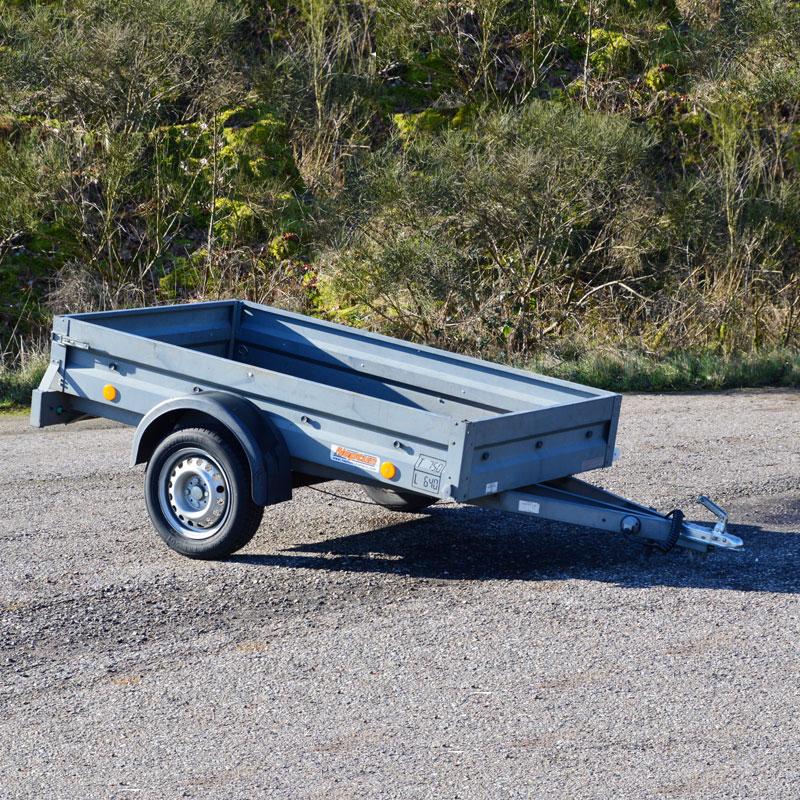 Have trailer 750 kg med god nyttelast fra vojens trailer udlejning