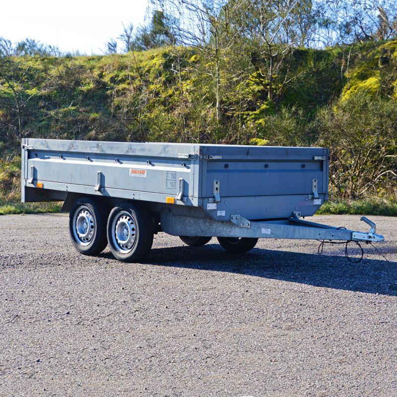 750 kg have trailer fra vojens trailer udlejning - lej den her