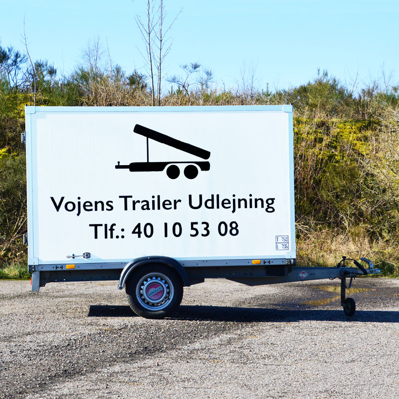 Flytte trailer - lille boks fra Vojens Trailer udlejning -Lej trailere hos os