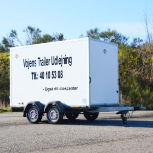 Flytte trailer - Stor boks trailer fra Vojens Trailer udlejning