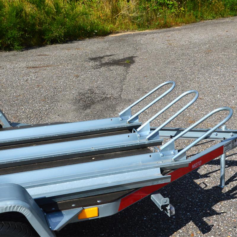 mc trailer til motorcykel, knaller og almindelig cykler - lej den hos Vojens trailerudlejning