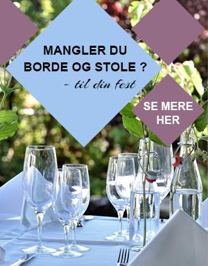 Mangler du stole og borde til din fest - lej dem hos os